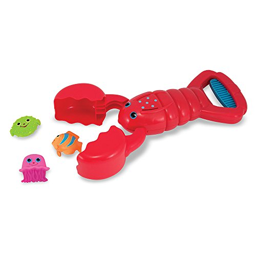 Melissa & Doug Sunny Patch Louie Lobster Claw Catcher - Grab-and-Squeeze Pool Toy