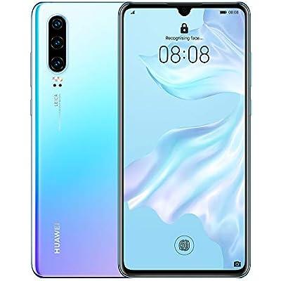 Huawei P30 128 6 1 Inch OLED Display Smartphone with Leica Triple Camera  6GB RAM  EMUI 9 1 0 Sim-Free Android Mobile Phone  Single SIM  Breathing Crystal  Version