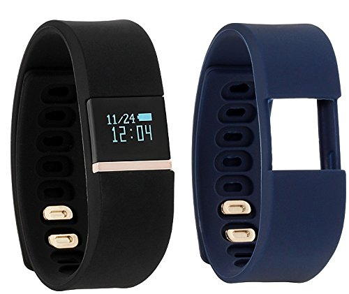 iTouch iFitness Bluetooth Smart Watch with 2 Sports Bands, Modern Clock, Calorie Tracker, Step Counter, Fitness and Activity Tracking, Remote Camera Function, Sleep Monitor (Black/Navy)