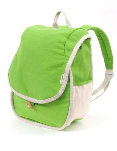 PVC-Free Cotton Kids Panda Bag in Grass