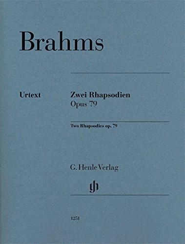 Brahms: Two Rhapsodies, Op. 79 (Music Pianos Sheet Two)