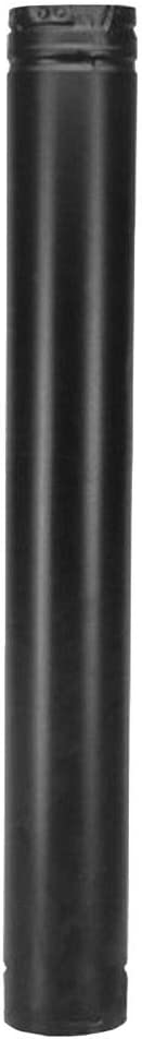 "DuraVent 3PVP-60B 3"" Inner Diameter - PelletVent Pro Type L Chimney Pipe - Doubl, Black"