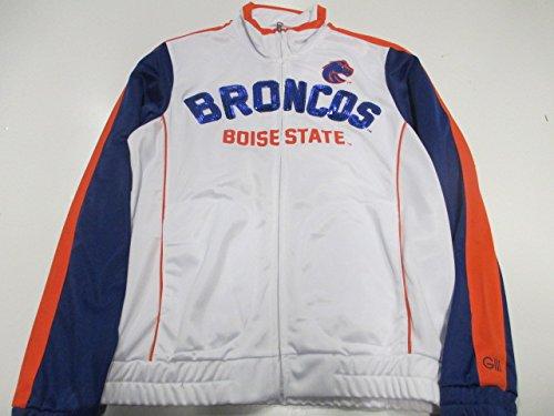 ボイジー州立ブロンコスWomens Medium Full Zip刺繍とScreenedトラックジャケットwith Sequins Abos 10 S   B01DAVDDNG