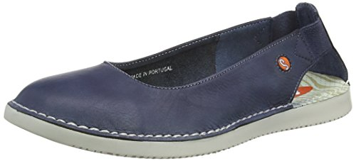 Softinos Tho456sof Washed, Ballerine con Chiusura sul Retro Donna Blu (Navy)