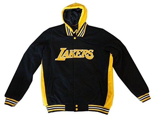 LA Lakers NBA Reversible Fleece Hoodie Jacket (Nba Reversible Fleece)