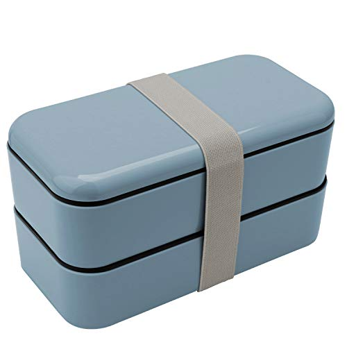 Zenic Bento Box for Men Women and Kids, Lunch Organizer Lunch Box for for Office/School / Picnic (Grey)