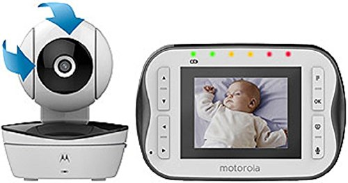 Motorola Digital Video Baby Monitor MBP41S with Video 2.8 Inch Color Screen, Infrared Night Vision, with Camera Pan, Tilt, and Zoom (Motorola Split Screen)