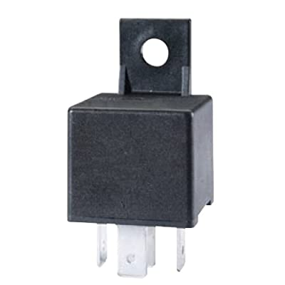 HELLA 965400031 Black 24V 30 Amp Mini ISO SPST Relay with Bracket: Automotive