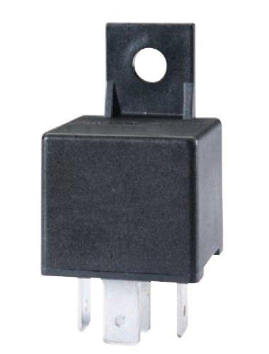 HELLA 965400031 Black 24V 30 Amp Mini ISO SPST Relay with Bracket by HELLA