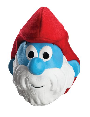 Rubie's Costume Papa Smurf Adult Vinyl Mask, Blue/White, One Size -