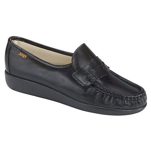 SAS Women's Classic Slip on, Black Leather, 7M by SAS