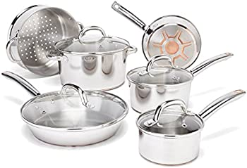 13-Piece T-fal C836SD Ultimate Stainless Steel Copper Bottom Cookware Set