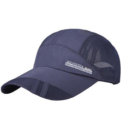 - Baseball Cap, Adult Mesh Hat Quick-Dry Collapsible Sun Hat Outdoor Sunscreen Baseball Cap (Navy)