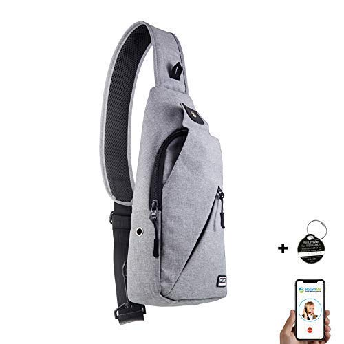 Peak Gear Sling Crossbody Backpack – Urban Messenger Day Bag (Gray)