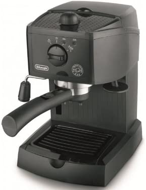 Delonghi EC151 - Cafetera de bomba tradicional, presión 15 bares, cappuccino system, café molido y cápsulas, capacidad depósito 1,1l, negro: Amazon.es: Hogar