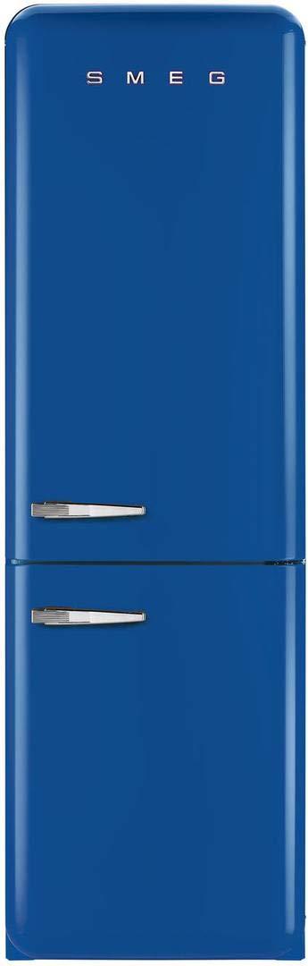 Smeg 50s Retro Style Series 24-Inch Freestanding 8.2 cu.ft. Refrigerator with 3.5 cu.ft. Freezer, 3 Glass Shelves, Crisper Drawer, (Blue Right Hinge)