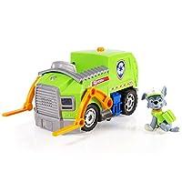 Paw Patrol- Camión de reciclaje de luces y sonidos de Rocky