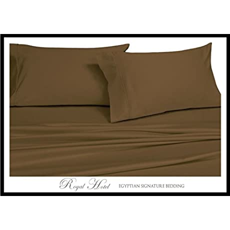 Royal Hotel S 8pc Solid Brown Full Size Bed In A Bag Goose Down Comforter Set 300TC 100 Rayon From Bamboo