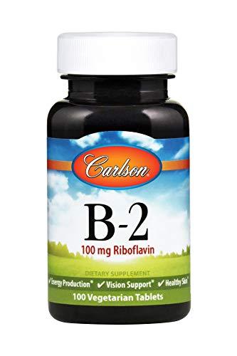 Carlson - B-2, 100 mg Riboflavin, Energy Production, Vision Support & Healthy Skin, 100 Vegetarian Tablets (100 Vegetarian Tablets)