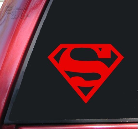 Dc Doomsday Costume (Superman Vinyl Decal Sticker - Red | 5 X 4 In)