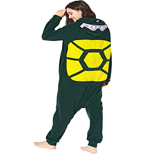 GOLECHA Teenage Mutant Ninja Turtles Adults Animal Kigurumi Cosplay Costume Pajamas Onesies (L) -