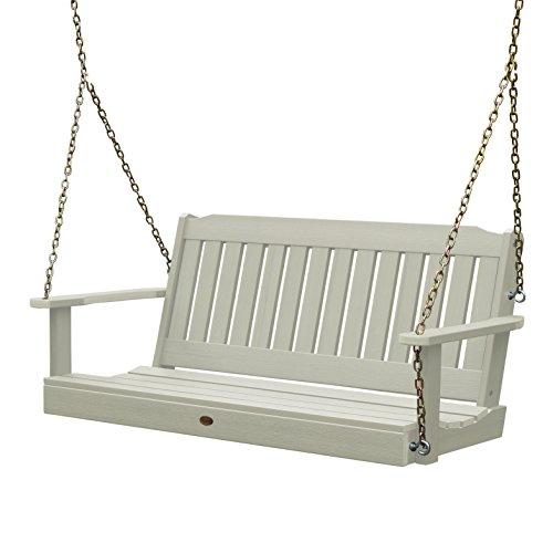 Highwood AD-PORL1-WAE Lehigh Porch Swing, 5 Feet, Whitewash (Table Zinc Outdoor Dining)