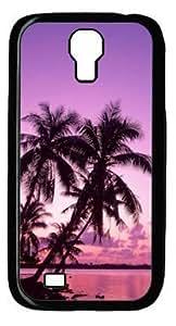 Beautiful Beach Nature Scenery DIY Hard Shell Black Samsung Galaxy S4 I9500 Case Perfect By Custom Service