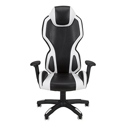 A.I. - High-Back Gaming Chair by SkyLab Performance Seating F.C., White/Black Most Popular