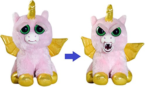 Feisty Pets Ali Cornball The Alicorn [Winged Unicorn] - Turns Feisty with a Squeeze
