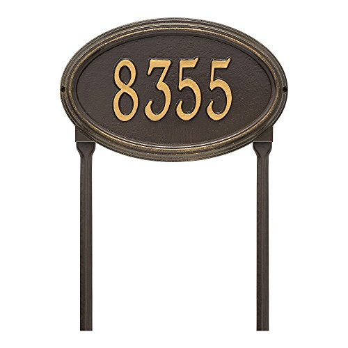 """Customized Concord OVAL Standard LAWN Address Plaque 21""""W x 12""""H (1 (Concord Oval Plaque)"""
