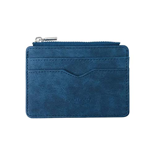 Card Holder Purse for Men Women Business Wallet Gift Bags Multi-Card (Credit Aqua Review Card)