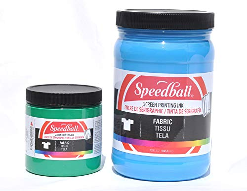 Special Fabric Screen Printing Ink 8 oz, Colour: Red