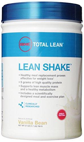 Gnc total Lean Shake, la gousse de vanille, 1,7 livres