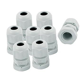 eDealMax PG9 Rango 3.5-8mm impermeable Glándula de Cable de fijación de conector articulaciones Sujetador