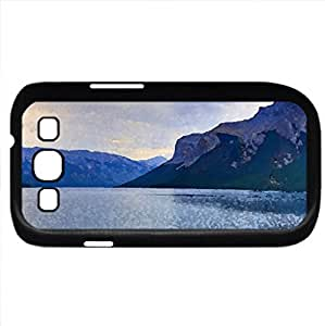 Lake Relax (Lakes Series) Watercolor style - Case Cover For Samsung Galaxy S3 i9300 (Black)