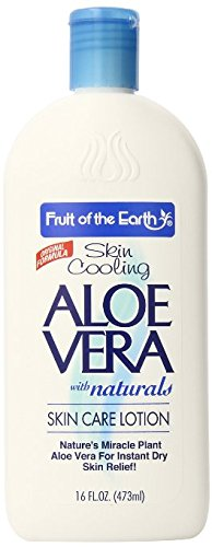 Fruit of the Earth Aloe Vera Skin Care Lotion 16 oz (3 Pack Total of 48 oz) Triple Action Formula Made in USA