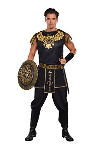 Dreamgirl Men's Warrior Of De Nile Costume, Black/Gold, Large (Warrior Girl Costume)