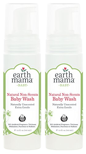 Gentle Scent - Earth Mama Natural Non-Scents Baby Wash Gentle Castile Soap For Sensitive Skin, 5.3-Fluid Ounce (2-Pack)