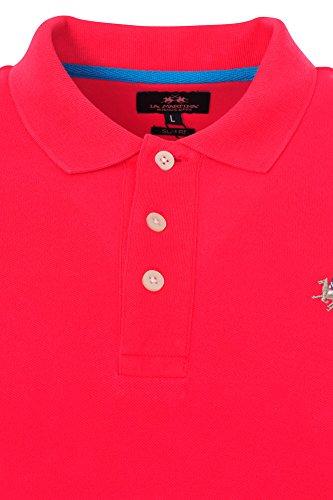 La Martina Polo Poloshirt Herren Rosa Blau Slim Fit Baumwolle Casual M