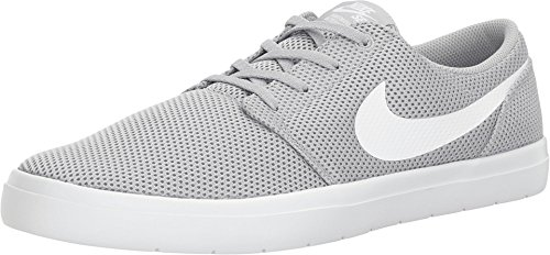 Nike Mens SB Portmore II Ultralight Wolf Grey White Size 8 ()