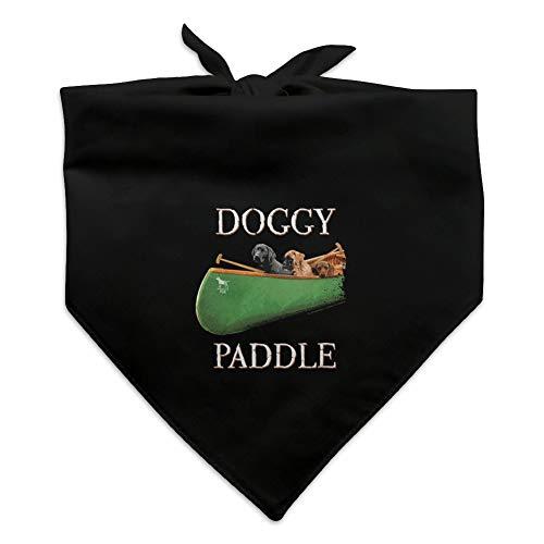 y Dog Paddle Canoe Dogs Dog Pet Bandana - Black ()