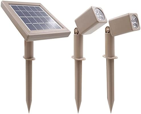 HEX 30X Twin Solar Spotlight Warm White LED for Outdoor Garden Yard Landscape Downlight