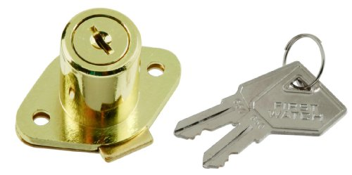 First Watch Security 1356 Cabinet Drawer Lock Latch, Polished - Hickory Brass Knobs