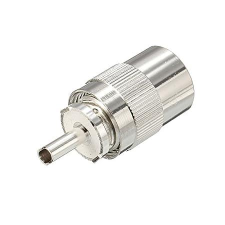 ChaRLes 10Pcs Uhf Pl259 Macho Conector Plug Soldadura Rg8 ...