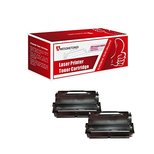 Yield High 12a8325 (Awesometoner Remanufactured 2 Pack 12A8325 T430 Toner Made in USA For Lexmark T430 T430d T430dn High Yield 12000 Pages)
