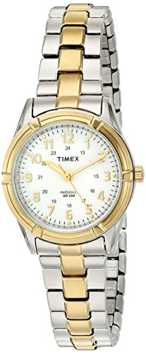 Timex Women's 'Easton Avenue' Quartz Brass and Stainless Steel Casual Watch, Color:Two Tone (Model: TW2P890009J)