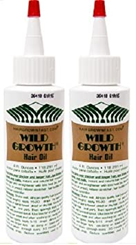 Wild Growth Set – Hair Oil 4oz 2 Pack and Light Oil Moisturizer 4oz 1 Pack with Shea Butter Packet