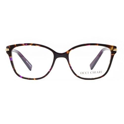 OCCI CHIARI Eyewear Frames Fashion Optical Acetate Eyeglasses With Clear Lenses (Purple Demi, - Fashion Frames Optical