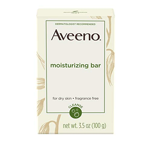 Aveeno Gentle Moisturizing Bar Facial Cleanser with Nourishing Oat for Dry Skin, Fragrance-free, Dye-Free, & Soap-Free, 3.5 oz