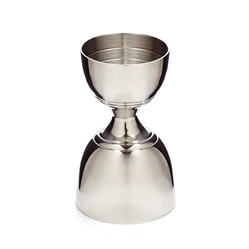 Cocktail Kingdom Leopold Jigger – 1oz/2oz – Stainless Steel / Banded